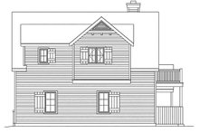 House Plan Design - Country Exterior - Rear Elevation Plan #22-605