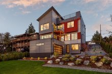 House Plan Design - Modern Exterior - Rear Elevation Plan #1066-67