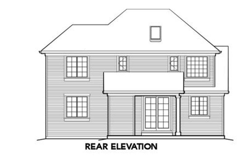 Craftsman Exterior - Rear Elevation Plan #48-399 - Houseplans.com