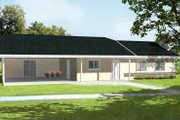 Ranch Style House Plan - 2 Beds 2 Baths 1092 Sq/Ft Plan #1-1049 Exterior - Front Elevation