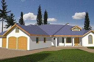 Architectural House Design - Traditional Exterior - Front Elevation Plan #117-157