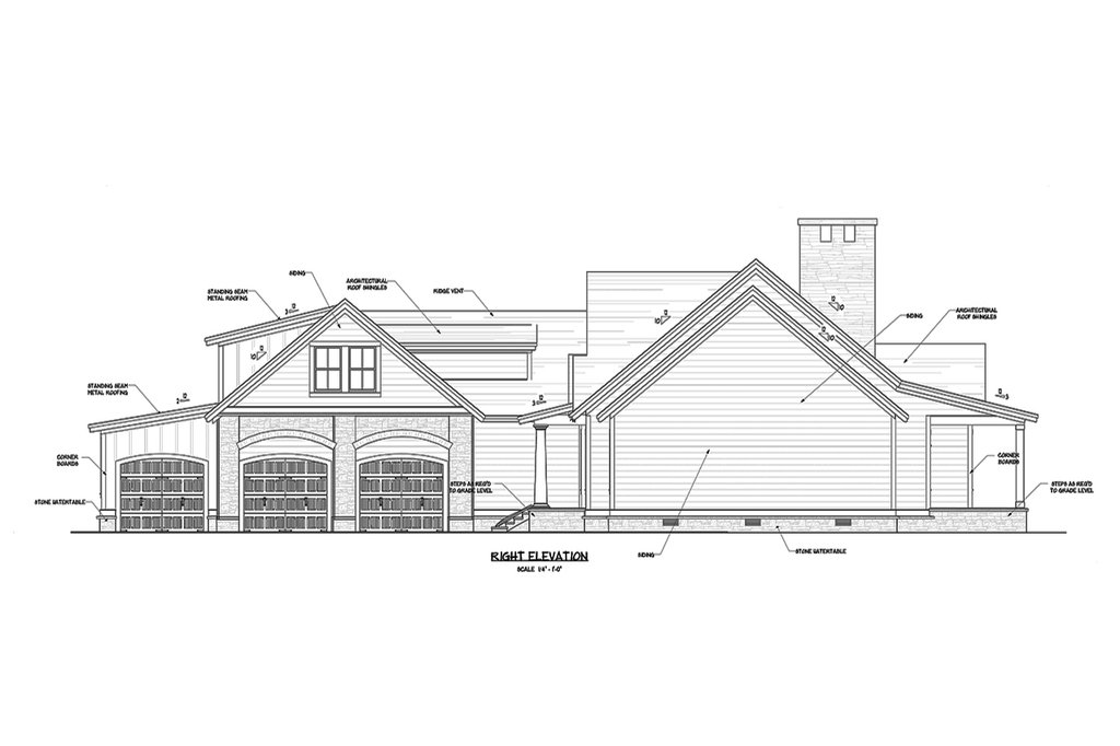 craftsman style house plan - 3 beds 2 5 baths 3082 sq  ft plan  1071-22