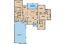 European Floor Plan - Main Floor Plan Plan #923-16