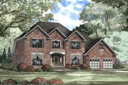 Traditional Style House Plan - 5 Beds 2.5 Baths 3283 Sq/Ft Plan #17-411 Exterior - Front Elevation