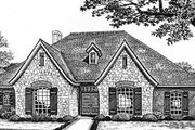 European Style House Plan - 3 Beds 2.5 Baths 2390 Sq/Ft Plan #310-529 Exterior - Front Elevation