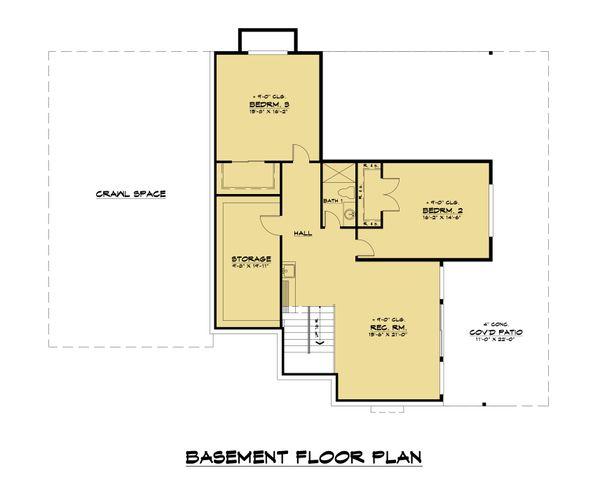 Dream House Plan - Contemporary Floor Plan - Lower Floor Plan #1066-123