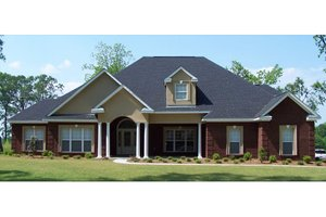 Traditional Exterior - Front Elevation Plan #63-198