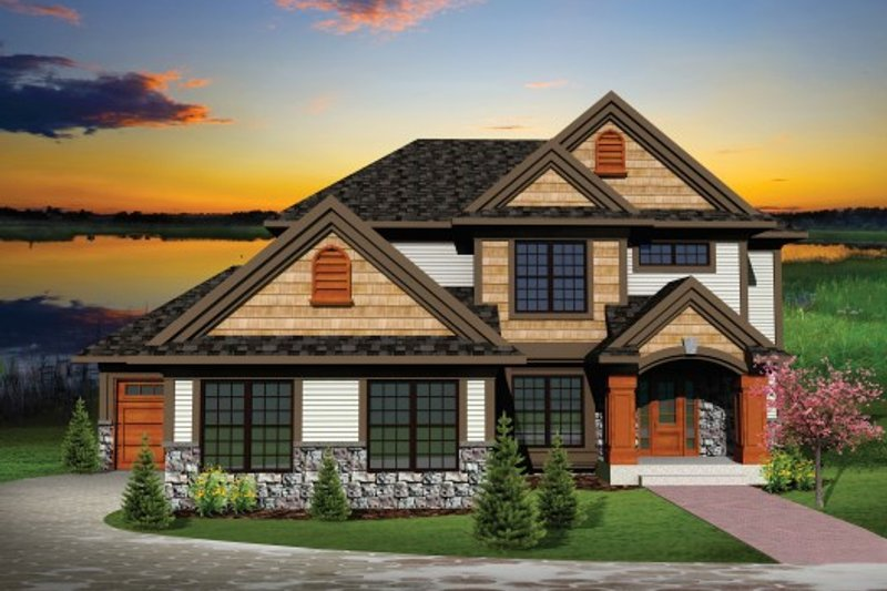 Home Plan - Exterior - Front Elevation Plan #70-1102