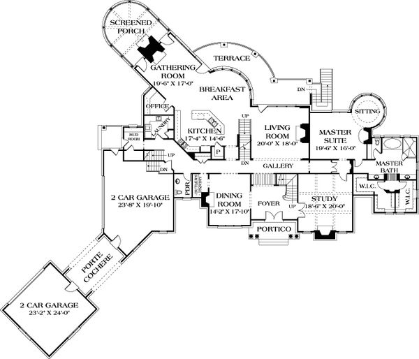 European Floor Plan - Main Floor Plan #453-50