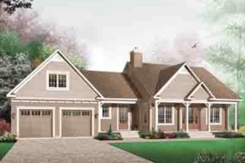 Farmhouse Exterior - Front Elevation Plan #23-642 - Houseplans.com