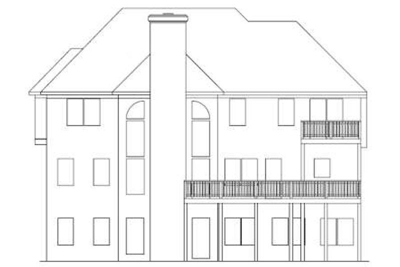 European Exterior - Rear Elevation Plan #56-212 - Houseplans.com