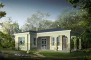 Mediterranean Style House Plan - 0 Beds 1 Baths 504 Sq/Ft Plan #1-110 Exterior - Front Elevation