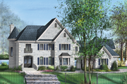 European Style House Plan - 3 Beds 2 Baths 3716 Sq/Ft Plan #25-4707 Exterior - Front Elevation