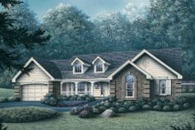 House Design - Traditional Exterior - Front Elevation Plan #57-174