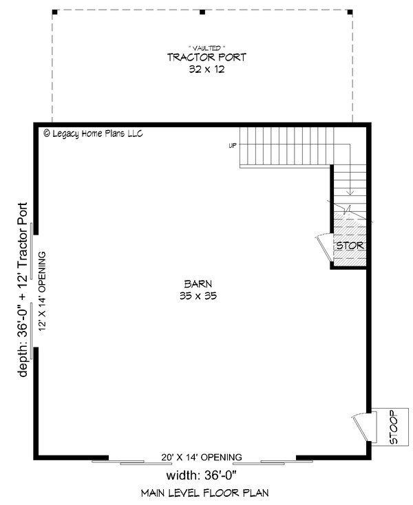 House Blueprint - Country Floor Plan - Main Floor Plan #932-372
