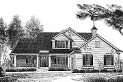 Traditional Style House Plan - 4 Beds 2.5 Baths 2155 Sq/Ft Plan #70-320 Exterior - Front Elevation