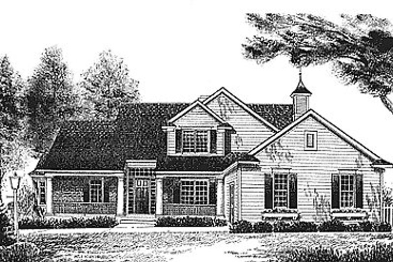 Traditional Exterior - Front Elevation Plan #70-320