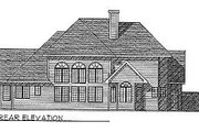 Traditional Style House Plan - 3 Beds 2.5 Baths 2649 Sq/Ft Plan #70-423 Exterior - Rear Elevation