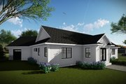 Ranch Style House Plan - 3 Beds 2.5 Baths 2150 Sq/Ft Plan #70-1480 Exterior - Rear Elevation