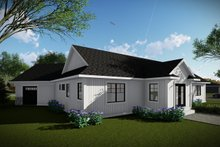 Dream House Plan - Ranch Exterior - Rear Elevation Plan #70-1480