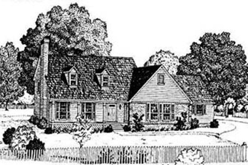 Home Plan - Country Exterior - Front Elevation Plan #36-191