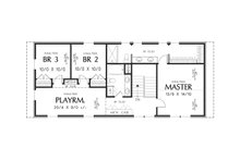 Contemporary Floor Plan - Upper Floor Plan Plan #48-661