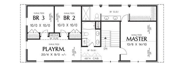 Contemporary Floor Plan - Upper Floor Plan Plan #48-661