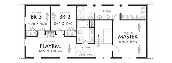 Dream House Plan - Contemporary Floor Plan - Upper Floor Plan #48-661