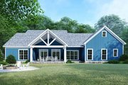 Country Style House Plan - 4 Beds 3 Baths 2220 Sq/Ft Plan #923-122 Exterior - Rear Elevation