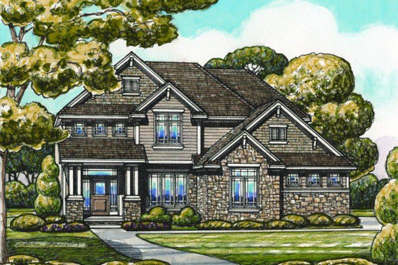 Home Plan - Bungalow Exterior - Front Elevation Plan #20-2094