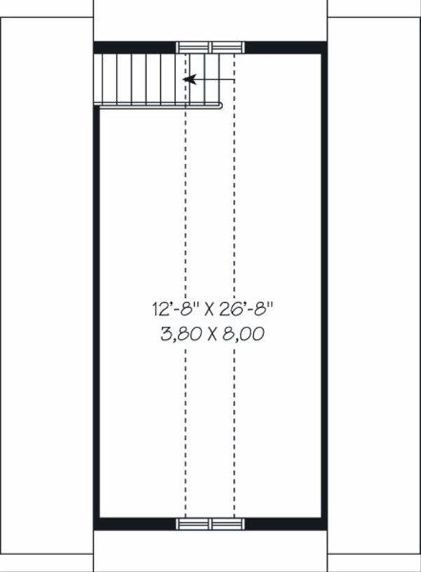 Traditional Floor Plan - Upper Floor Plan Plan #23-766