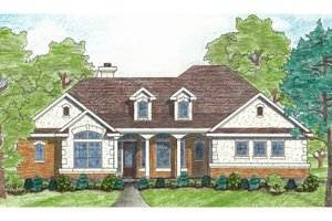 House Design - Traditional Exterior - Front Elevation Plan #80-116