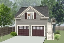 House Design - Southern Exterior - Front Elevation Plan #79-252