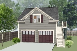Southern Exterior - Front Elevation Plan #79-252