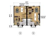 Contemporary Style House Plan - 5 Beds 2 Baths 2421 Sq/Ft Plan #25-4378 Floor Plan - Main Floor Plan