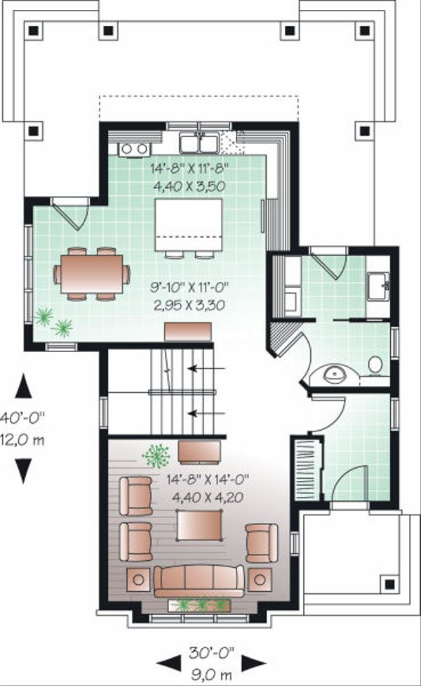 Farmhouse Floor Plan - Main Floor Plan Plan #23-741