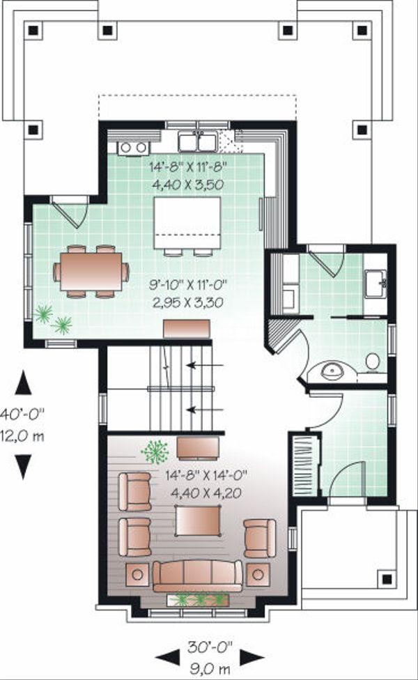 Architectural House Design - Farmhouse Floor Plan - Main Floor Plan #23-741