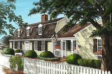 Home Plan - Colonial Exterior - Front Elevation Plan #137-193