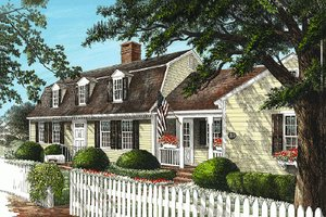 Architectural House Design - Colonial Exterior - Front Elevation Plan #137-193