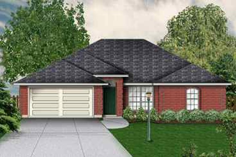 Traditional Exterior - Front Elevation Plan #84-120 - Houseplans.com