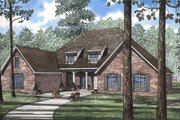 European Style House Plan - 3 Beds 2.5 Baths 3034 Sq/Ft Plan #17-170 Exterior - Front Elevation