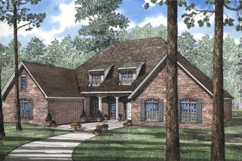 Dream House Plan - European Exterior - Front Elevation Plan #17-170
