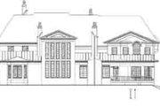 European Style House Plan - 5 Beds 6 Baths 6972 Sq/Ft Plan #119-235 Exterior - Rear Elevation