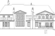 House Design - European Exterior - Rear Elevation Plan #119-235