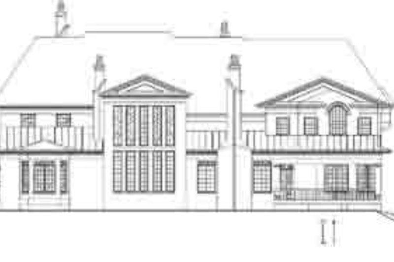 European Exterior - Rear Elevation Plan #119-235 - Houseplans.com