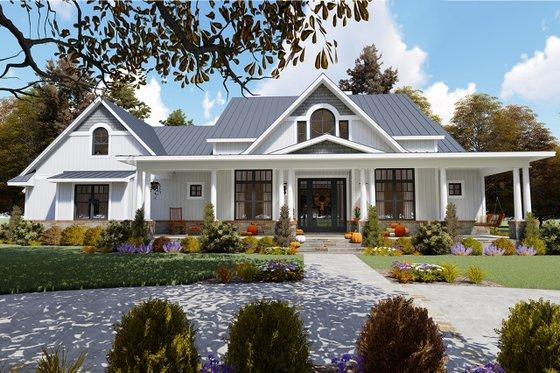 Architectural House Design - Farmhouse Exterior - Front Elevation Plan #120-257
