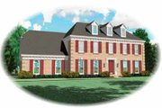 Colonial Style House Plan - 4 Beds 3.5 Baths 2260 Sq/Ft Plan #81-205 Exterior - Front Elevation
