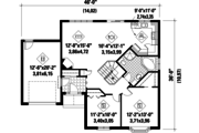 Traditional Style House Plan - 2 Beds 1 Baths 1096 Sq/Ft Plan #25-4824 Floor Plan - Main Floor Plan