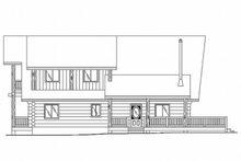 Log Exterior - Rear Elevation Plan #117-118