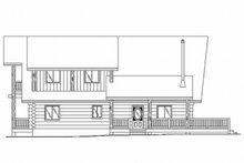 Log Exterior - Rear Elevation Plan #117-118